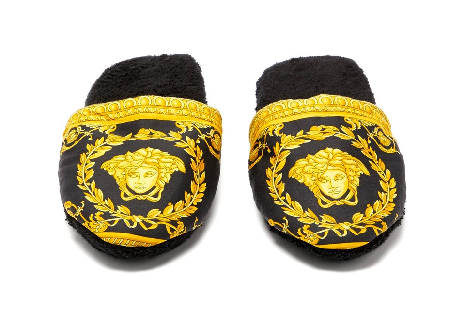 Relax in Regal Style With Versace's Baroque Slippers