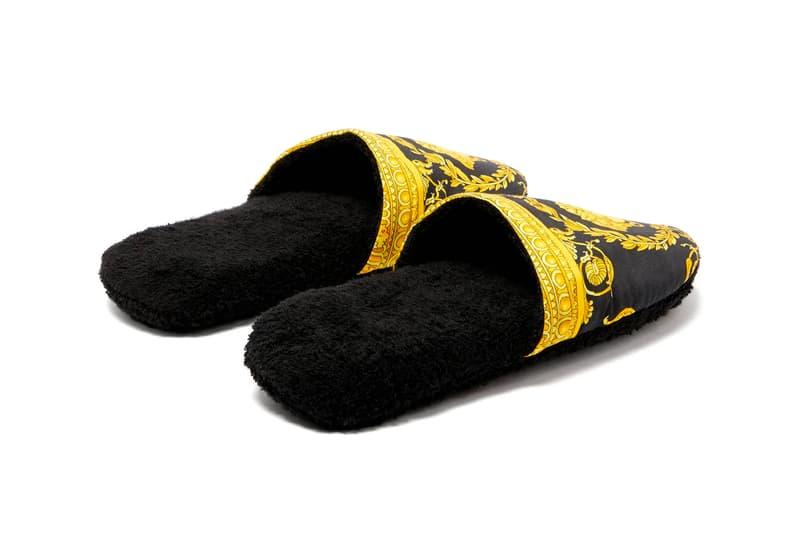Versace Baroque Slippers Release Info Buy print cotton terry