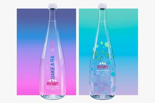 "Virgil Abloh & Evian Release ""MAKE A RAINBOW"" 75cl Water Bottle"