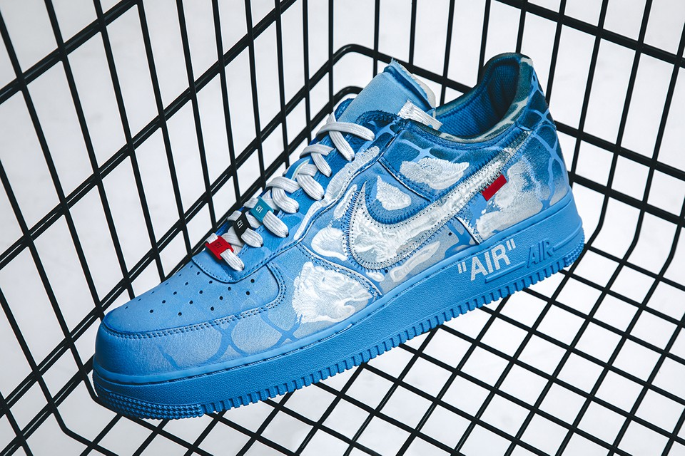 Take a Closer Look at MCA Chicago x Virgil Abloh x Nike Air Force 1s Painted by Cass Hirst