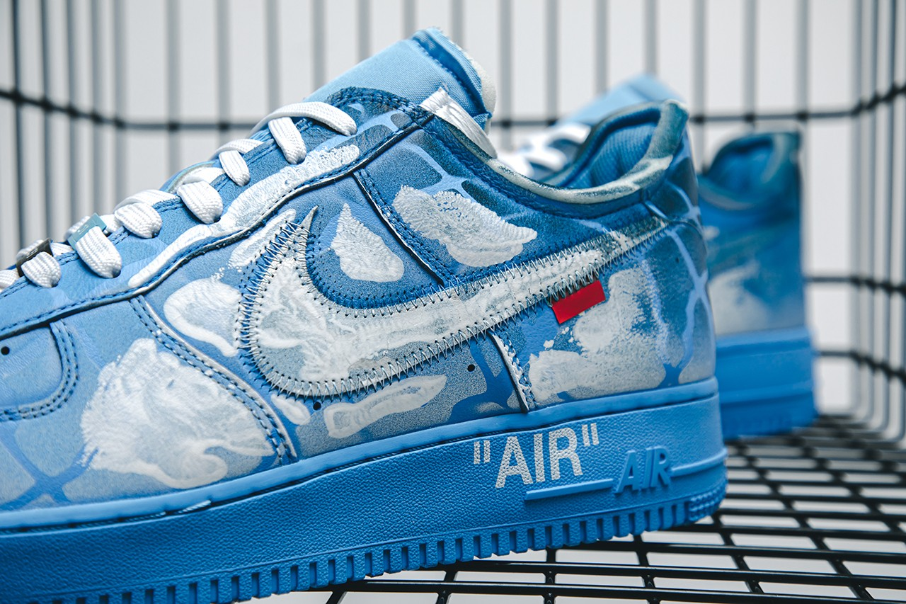 Virgil Abloh, Nike Air Force 1 Painted