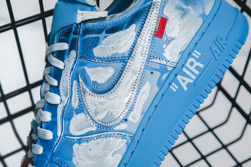 Virgil Abloh x MCA Chicago x Cassius Hirst x Nike Air Force 1 '07 Closer Look Images Up Close Official Limited Edition 20 Units Art Sneaker Collaboration