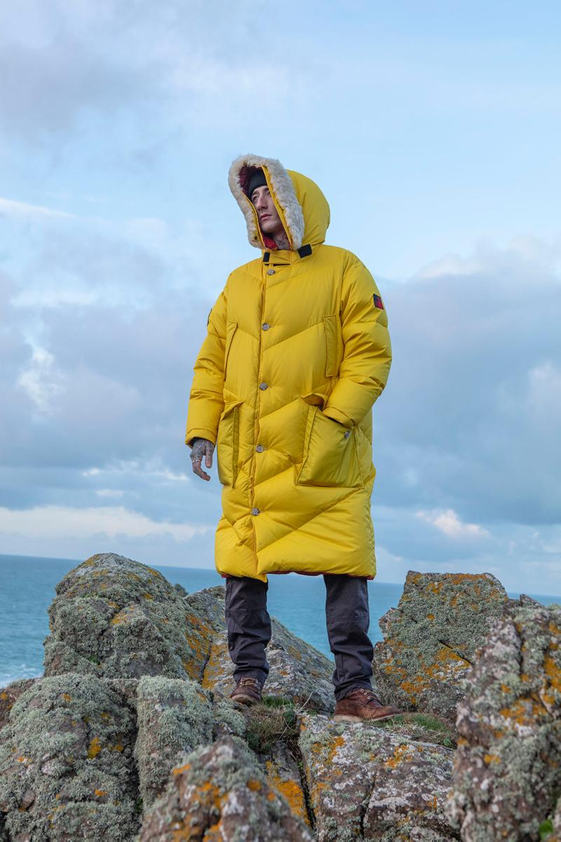 Woolrich Sustainable Collection Designed by Jeff Griffin Fall Winter 2019 FW19 Lookbook Campaign Imagery First Look Outerwear Carbon Neutral Design Studio Majocchi