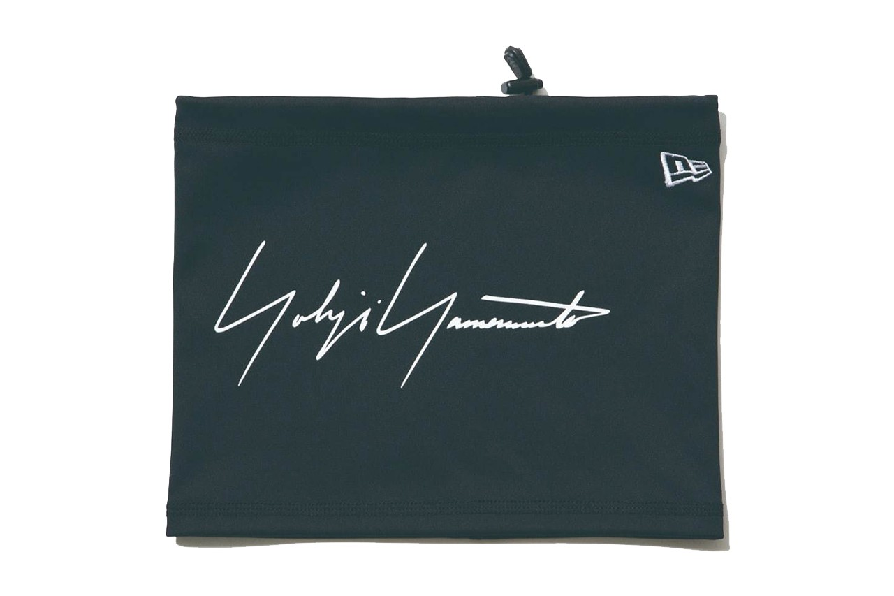 New Era japan yohji yamamoto collaboration collection hat snap back strap flat brim curved logo embroidery text fall winter 2019 fw19 backpack sling tote pouch bag document case gloves touch screen tee shirt drop release date november 1