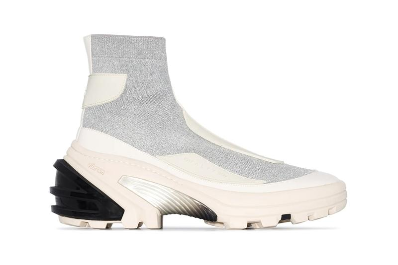 1017 ALYX 9SM White Knit Boot Sock Sneakers fall 2019 release