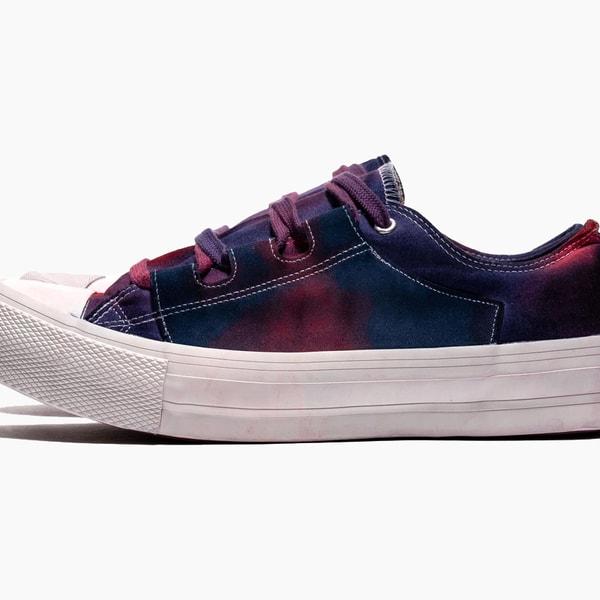 NEEDLES Asymmetric Ghillie Sneaker Over Dye Paint