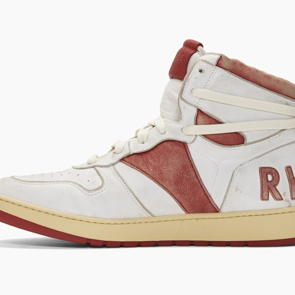 "RHUDE Retro Bball-Hi Sneakers ""White/Red"""