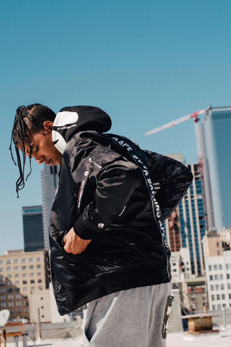 AAPE x Alpha Industries Fall/Winter 2019 Collection lookbooks outerwear jackets collaborations