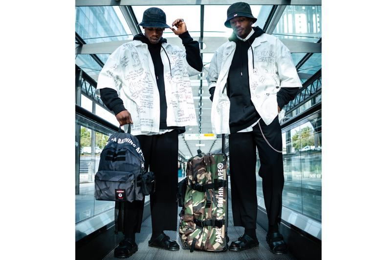 AAPE by A Bathing Ape x Eastpak Capsule bags accessories waist bags camo luggage black green carry all