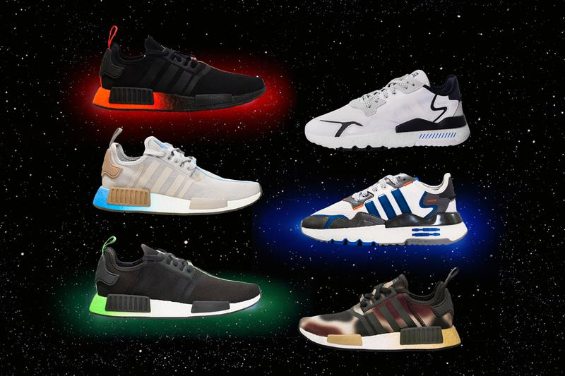 star wars adidas originals character pack nite night jogger nmd r1 darth vader yoda princess leia rey r2d2 stormtrooper release date info photos price