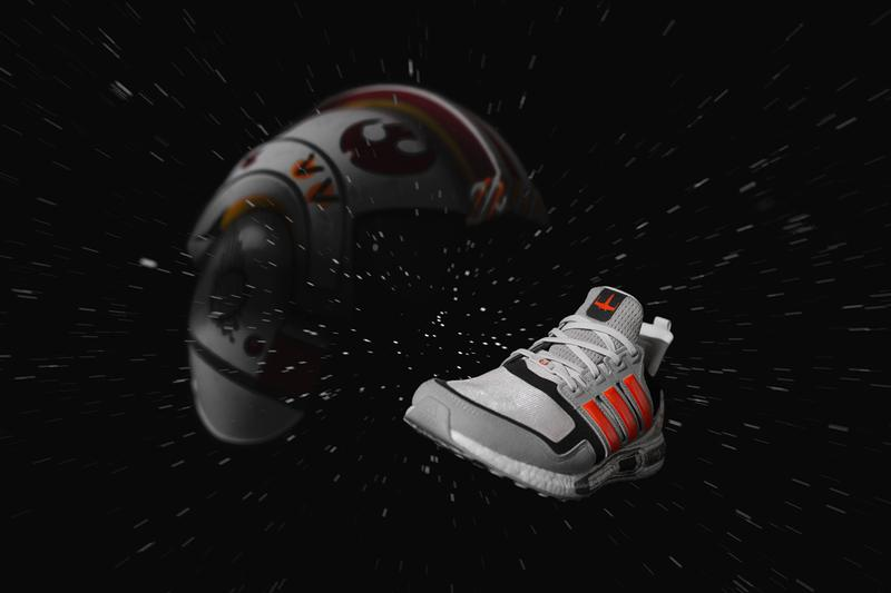 'Star Wars' x adidas Space Battle-Themed LucasFilm Pack X-Wing Starfighter Millennium Falcon Death Star Orange Blue green Black Ultraboost S&L Ultraboost 19 Alphaedge 4D