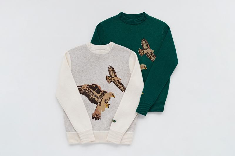 Aimé Leon Dore Third Fall/Winter 2019 Drop Collection Knits Sweaters Green Blue Black White Cream Beige John F. Kennedy JFK Michael Jordan Peregrine Falcons