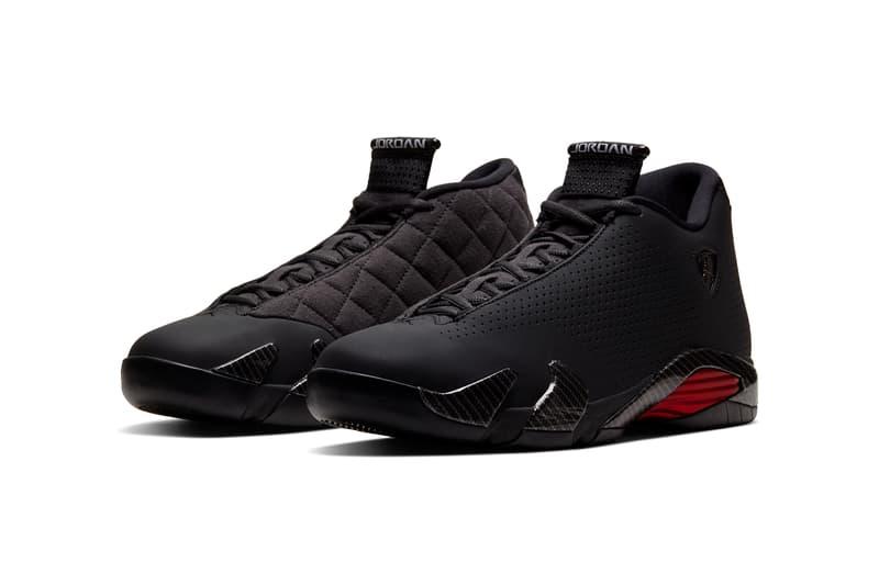 air jordan 14 se black ferrari quilted red carbon fiber bq3685 001 release date info photos price