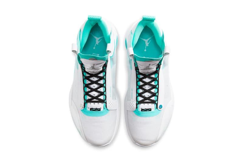 air jordan 34 guo ailun white teal bq3381 103 release date info photos price