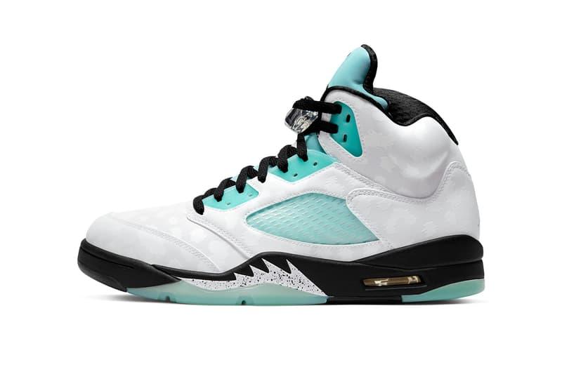 air jordan 5 island green singles day white black green teal CN2932 100 release date info price nike colorway