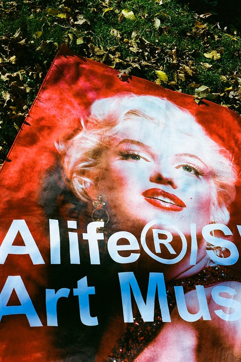 Alife Sam Shaw Marilyn Monroe Collection Info T-shirts Hoodies Towels Posters Alife Shop/Art Museum Program White Red Bone White Heather Gray