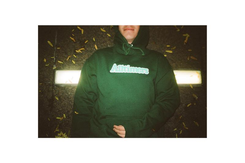 Alltimers Holiday 2019 Lookbook Collection Sweatshirts Hoodies Longsleeves Hats Soap Dispenser Beanies Puffer Jackets White Black Red Green Purple Blue Flowers