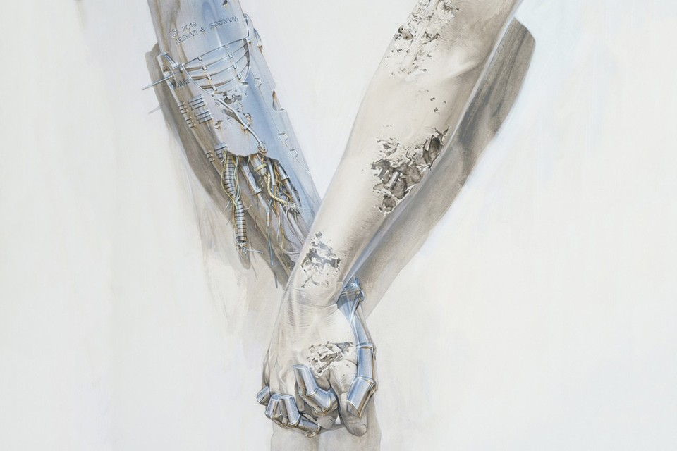 Daniel Arsham and Hajime Sorayama Reveal Collaborative Artwork
