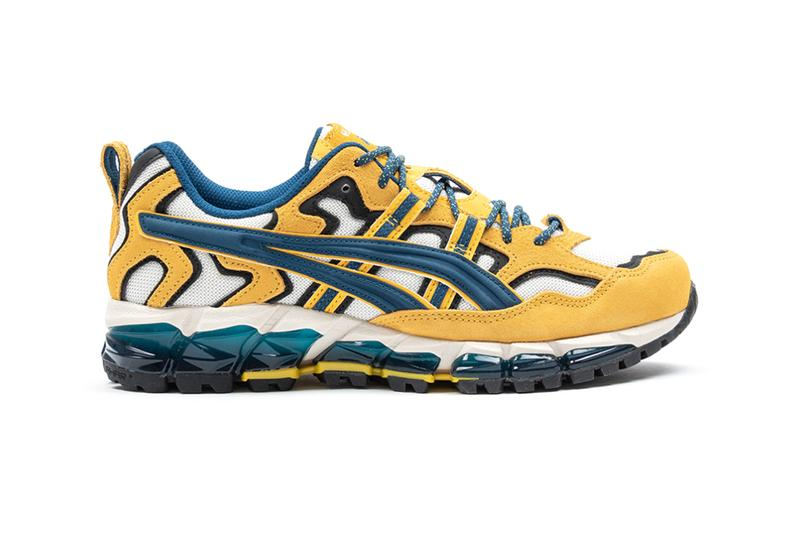 ASICS GEL Nandi 360 Cream Mako Blue Shoes trainers runners footwear sneakers trail running trekking hiking outdoors active japanese heritage Foot District yellow suede cushion
