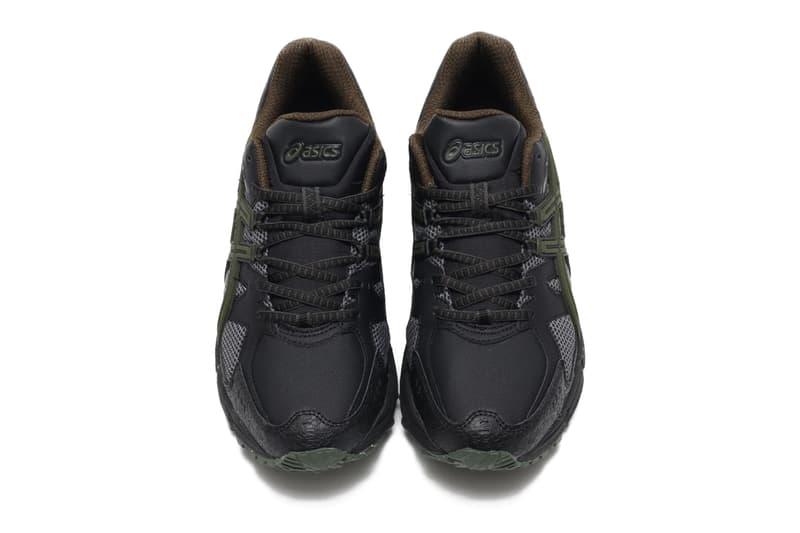 ASICS GEL SNOWRIDE Black Olive grey 1011a742 001 sneakers shoes trainers footwear waterproof runners running snow bad weather weatherize water repellent resistant traction