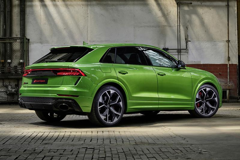 Audi RSQ8 Unveiled LA Auto Show Los Angeles International 592 BHP 590 Lb-Ft Torque V8 Lamborghini Twin Turbo Cylinder Adjust 0-60 MPH 3.8 Seconds First Look German 4x4 SUV Luxury