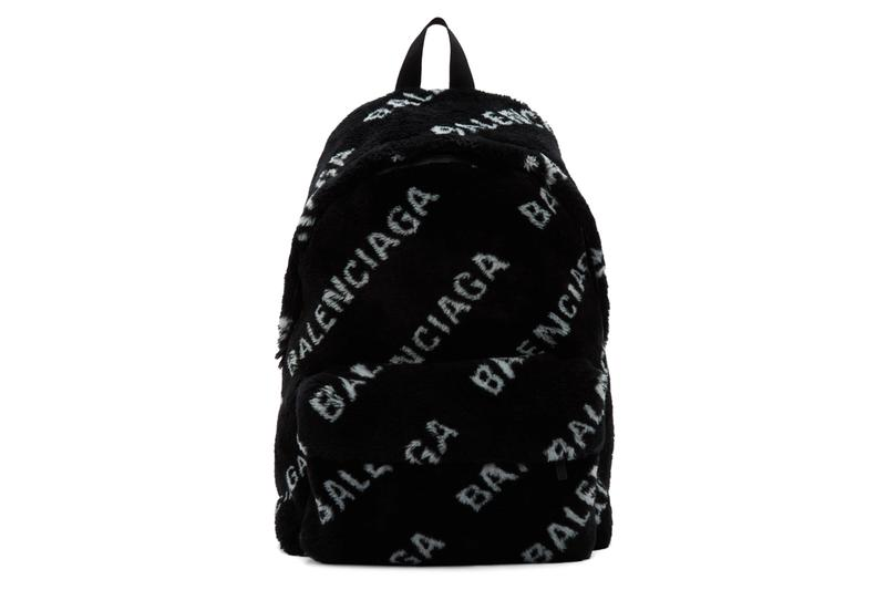 Balenciaga Faux-Fur Diagonal Everyday Backpack Where to Buy Price 2019 Release