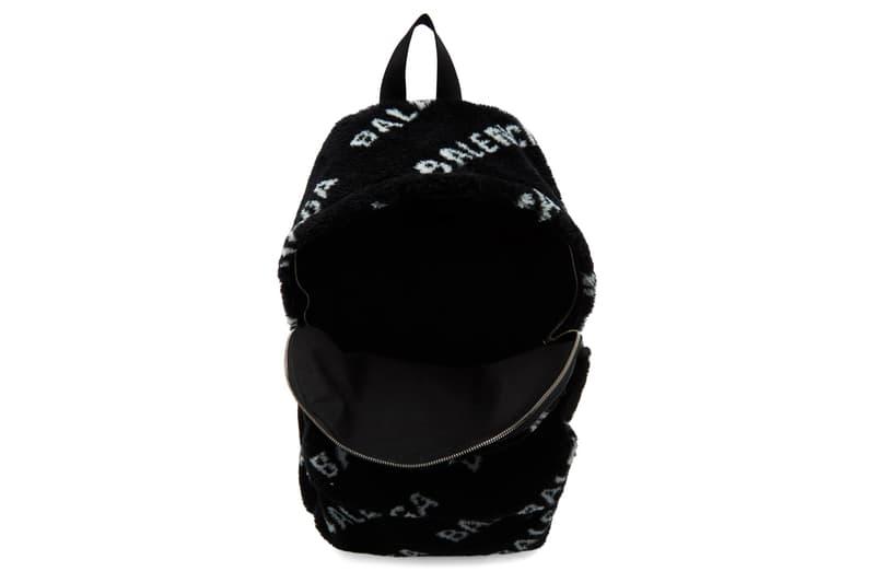 Balenciaga Faux Fur Diagonal Everyday Backpack Info Black White Release Buy