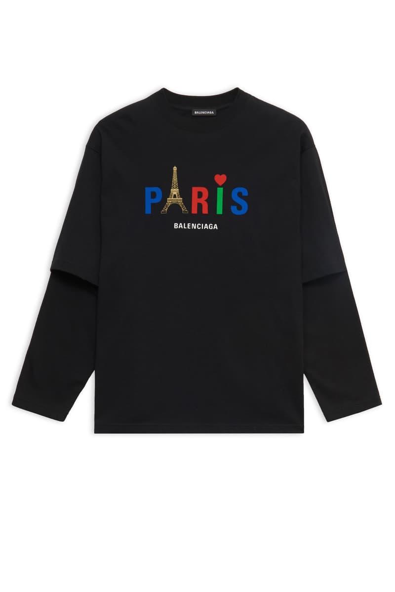 Balenciaga Eiffel Tower Fall Winter 2019 Items paris red white blue black jacket hoodie shirts
