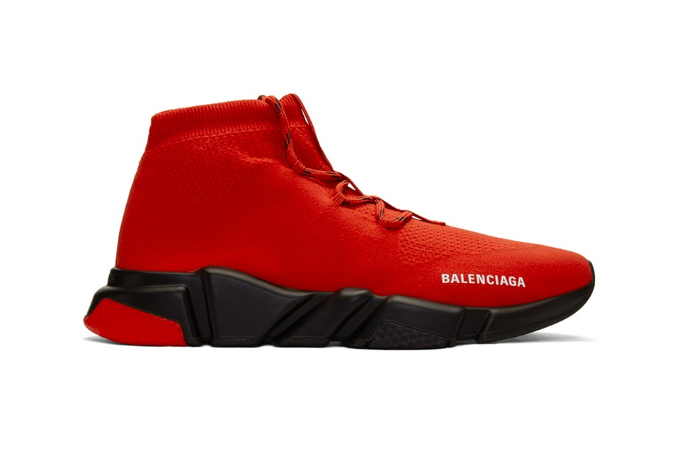 Balenciaga Applies Laces to Its Speed Lace up Trainers