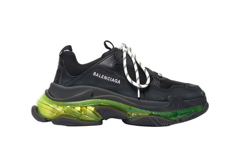 "Balenciaga Updates $995 USD Triple-S Clear Sole With ""Neon Yellow"" Highlights"