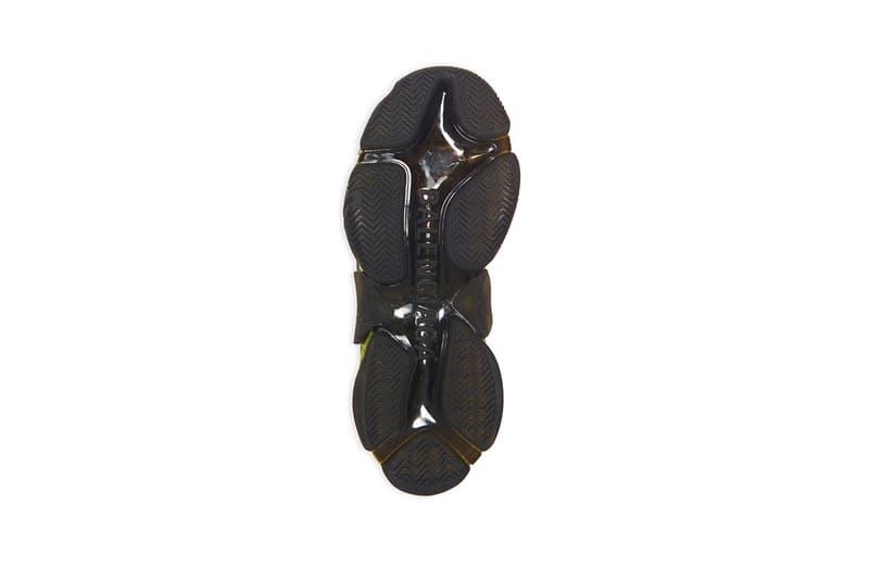 Balenciaga Triple-S Clear Sole Black Neon Yellow Sneaker Trainer Footwear Demna Gvasalia Chunky Vegan Leather-Free Technlogical Three Layers Unit