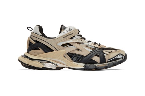 "Balenciaga's Track.2 Arrives in ""Beige/Black"" Colorway"