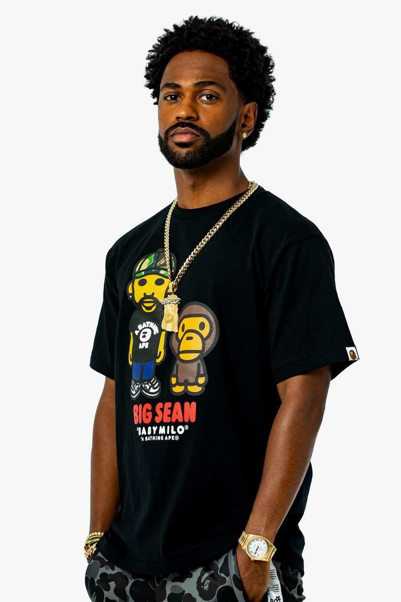 Big Sean x BAPE Collection a bathing ape collaborations collections lookbooks ape heads show t shirts baby milo a bathing don life