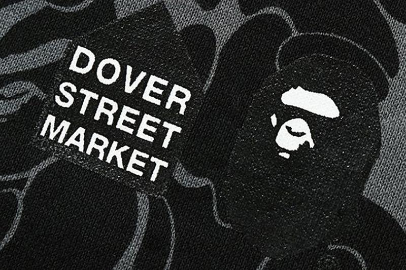 BAPE x Dover Street Market's 15th Anniversary Capsule a bathing ape collections apparel items ape head shark hoodie world gone mad Swarovski collaborations