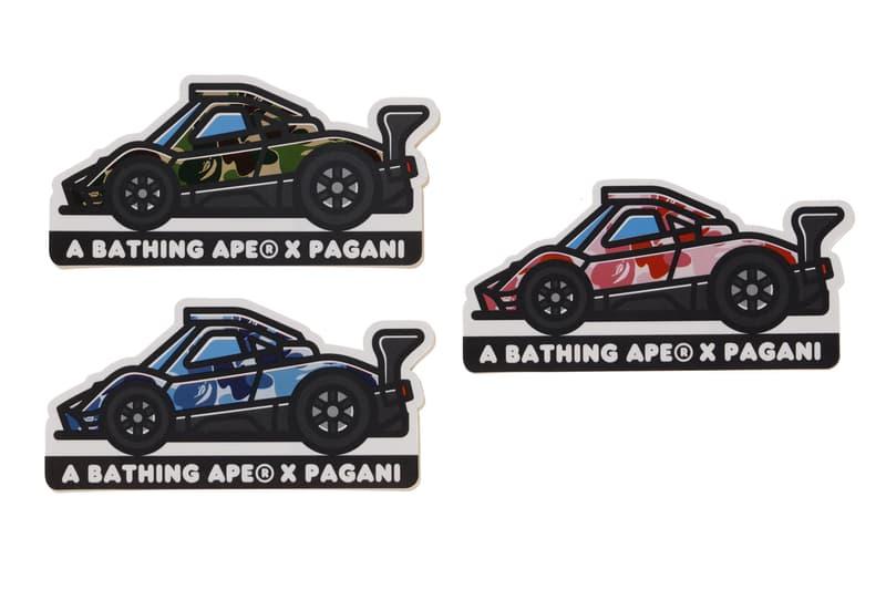 Pagani x BAPE Fall Winter 2019 Collection a bathing ape automotive Pagani Automobili baby milo Zonda's 20th Anniversary Horacio Pagani