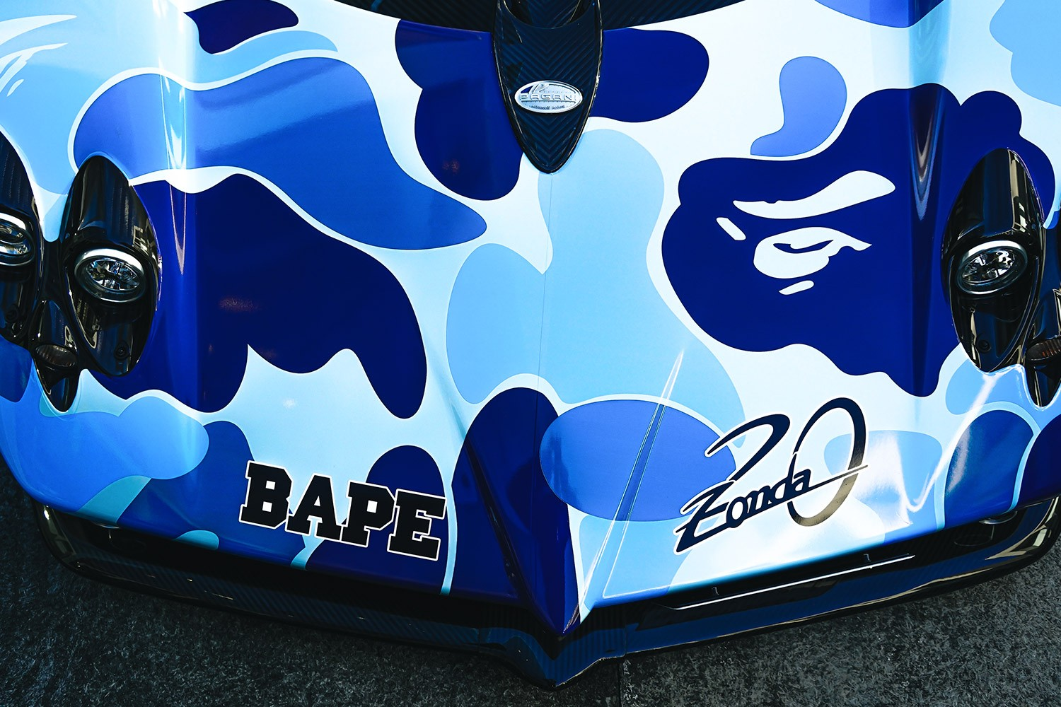 BAPE Pagani Capsule Collection Launch at Suzuka Circuit collaboration zonda 20th anniversary ape shall never kill ape luxury car speed Release info Date Buy T shirt hoodie baby milo