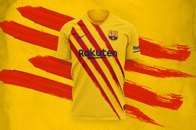 Barcelona Fourth Kit 2019/20 nike soccer football la liga messi Catalan flag Senyera yellow red