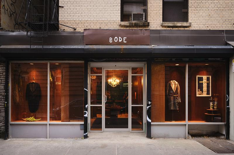 A Look Inside Bode New NYC Flagship Store Emily Adams Bode hotel lobby vintage green river project handmade collection apparel storefront inside design interior pillow green river project furniture new york city chinatown