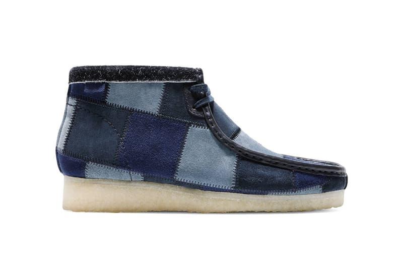 Bodega x Clarks Wallabee Patchwork FW19 Collaboration shoe footwear model fall winter 2019 quick strike release date info november 15 drop blue brown black boston los angeles qs dark wallabee chukka