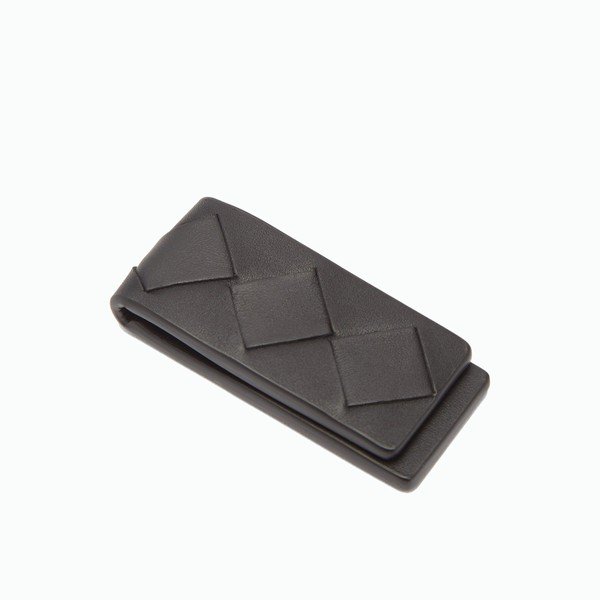 BOTTEGA VENETA Black Leather Magnetic Money Clip