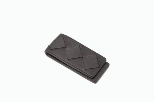 BOTTEGA VENETA Black Leather Magnetic Money Clip