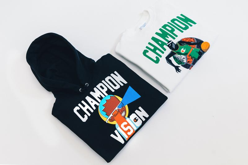 Champion In-Store Events Hebru Brantley Collaboration Champion Vision Hoodie Crewneck Reverse Weave Items Free Patches Los Angeles New York City Chicago Boston Philly Las Vegas