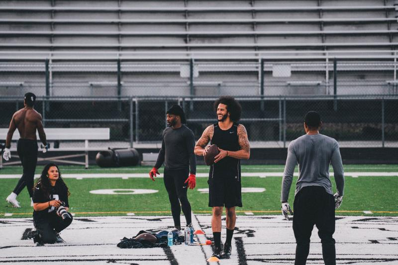 A Look Inside Colin Kaepernick's NFL Workout football videos photos training jay z