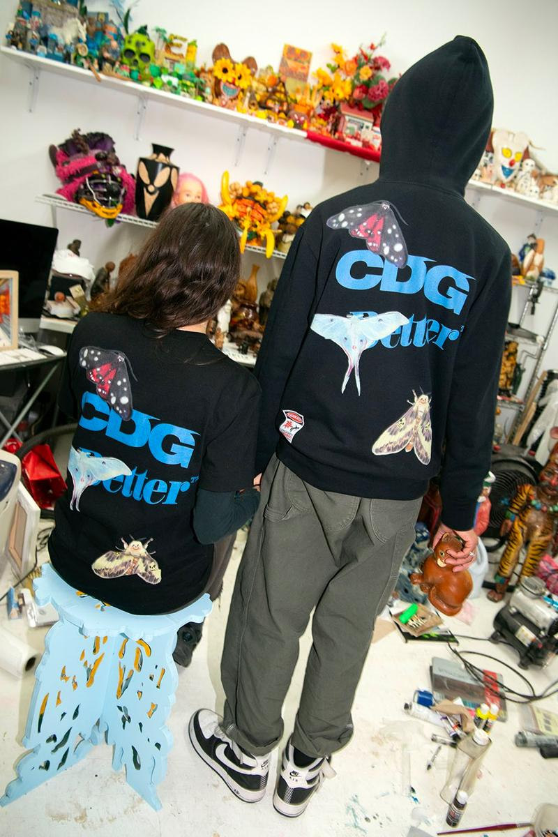 COMME des GARÇONS BetterGift Shop Electromagnetic Studios Capsule Release Info Date Buy Where hoodie t shirt black grey Nick Atkins