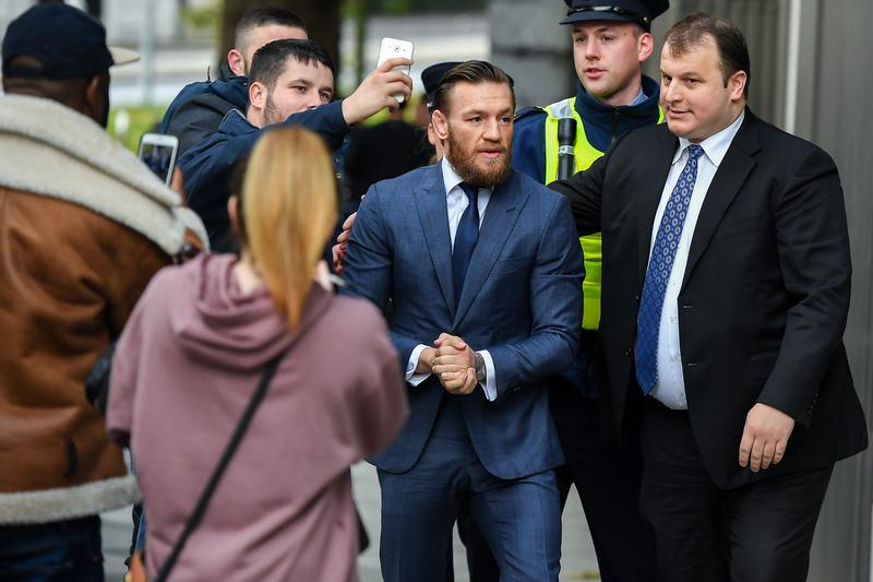 Conor McGregor Dublin Bar Assault Guilty Plea UFC Sentence Punching Man
