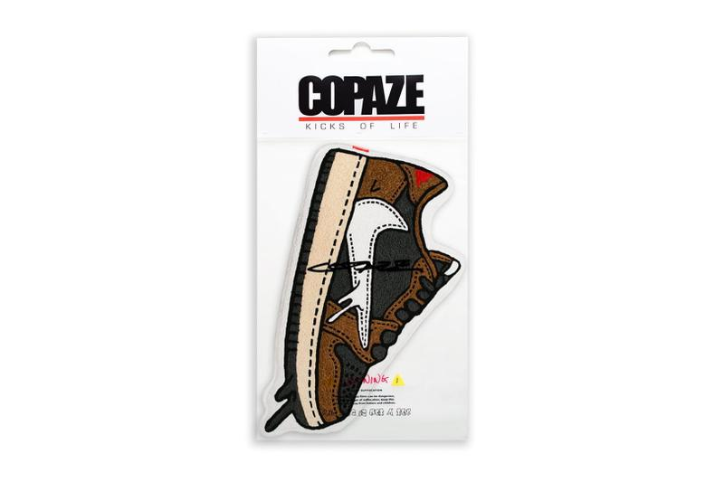 Copaze Turns Travis Scott's Air Jordans Into Car Fresheners and Rugs home accessories design automotive nike air jordan 6 air jordan 1 low aj1 Cactus Jack