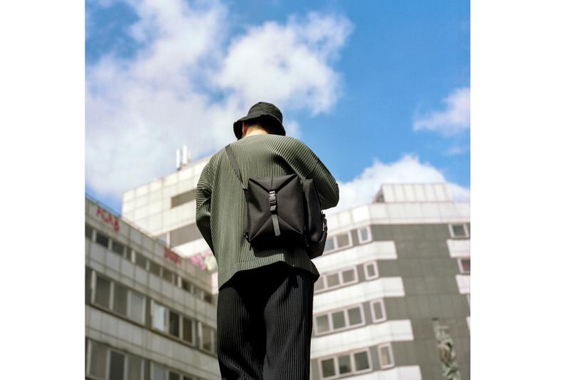 """Côte&Ciel's """"Horizon"""" Series Release lookbooks bags accessories Jobe Burns Concrete Objects editorial fall winter 2019 collection"""