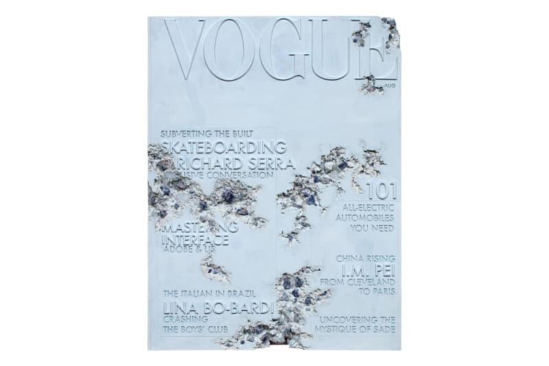 daniel arsham quartz eroded vogue magazine artworks sculptures auctions sales contemporary art