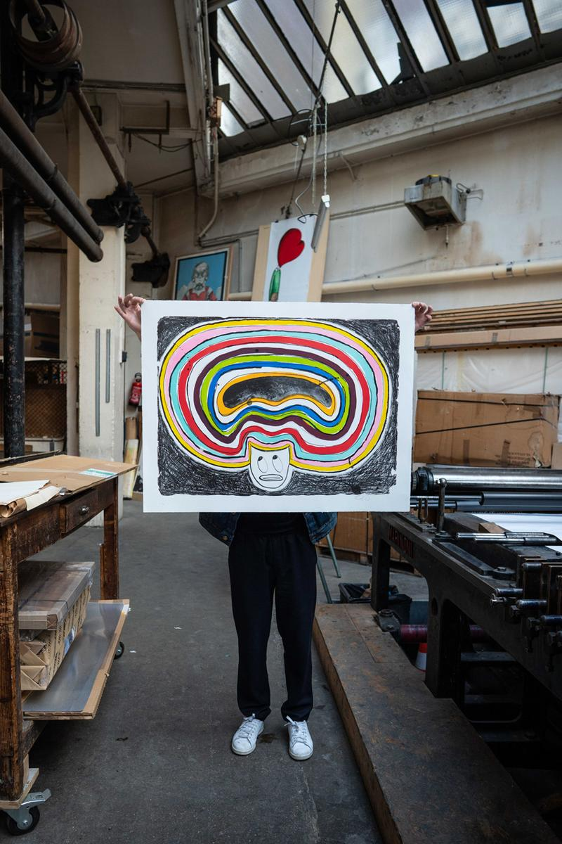 Print Them All x Devin Troy Strother Lithograph 'Heavy Is The Head That Wears The Afro' Ruttkowski;68 Gallery Paris Rainbow Hair Figure