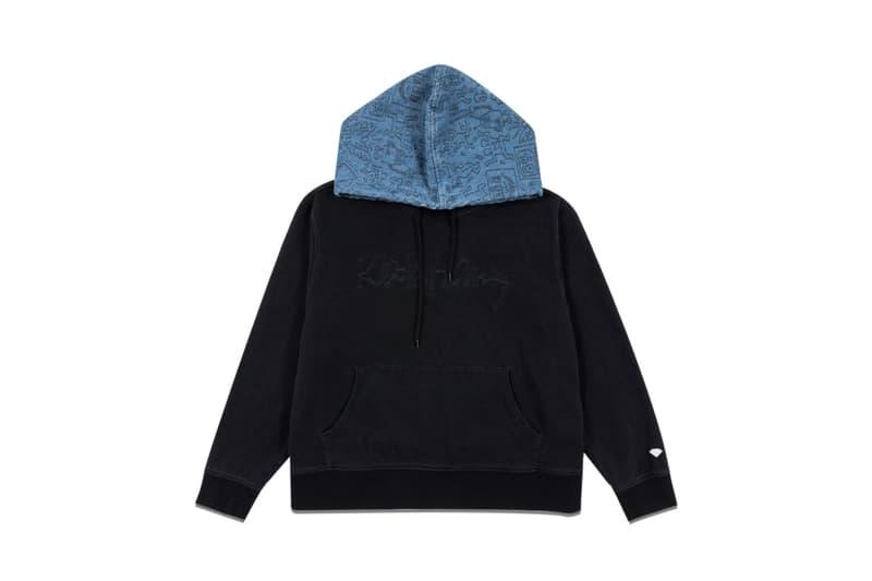 Keith Haring x Diamond Supply Co. Collection Info T-shirts Hoodies Long Sleeves Shorts Hats Sweatpants Wool Jackets Denim Jackets Dancing Figures Radiating Baby Barking Dog Three-Eyed Monster